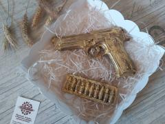 Набор шоколадный пистолет и патроны
