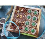 """Набор """"23 февраля"""", конфеты камуфляж и плитка шоколада"""