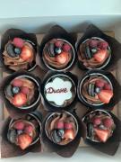 Капкейки-брауни с ягодами