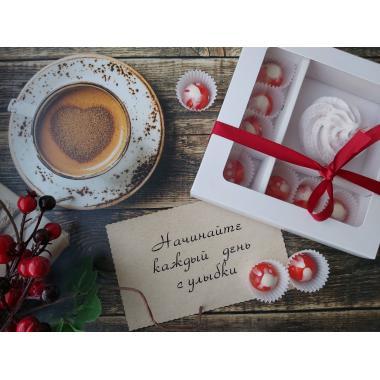 Набор 7 корпусных конфет из темного шоколада и зефир