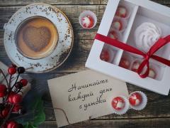 Набор 7 корпусных конфет из молочного шоколада и зефир