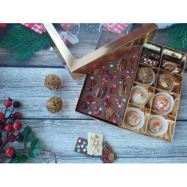 Набор 4 корпусных конфеты 2 трюфеля и темный шоколад