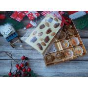 Набор 4 корпусных конфеты 2 трюфеля и белый шоколад