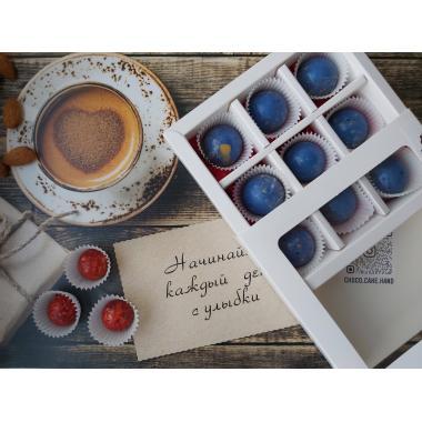 Набор 9 корпусных конфет из молочного шоколада с наполнением ассорти
