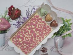 Набор 3 конфеты в виде сердца и белый шоколад