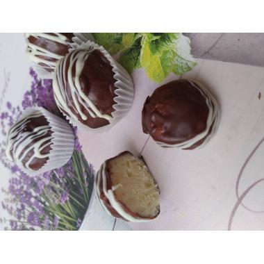 Набор 9 конфет сырные трюфели с сыром Пармезан на белом шоколаде